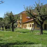 Giardino con scala ed edificio